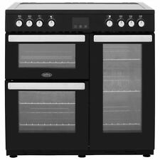 Belling Cookcentre90E 90cm 5 Burners Electric Range Cooker Black New from AO