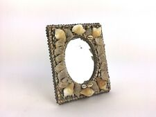 Vintage Hand Crafted Sea Shell Mirror Picture Frame Beach House Decor