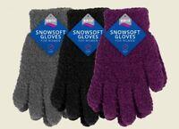 Ladies Winter Gloves Snow Soft Warm Fleece Women Gloves One Size Super Soft