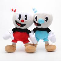 "Teacup head big Adventure game Cuphead Mug people Mugman Soft Doll plush toy 10"""
