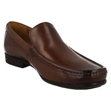 Clarks Claude Plain Mens UK 11 G Medium Fit Brown Leather Loafer Moccasin Shoes