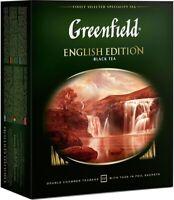 "Schwarztee Greenfield ""English Edition"" 100 st. чёрный чай Цейлон#"