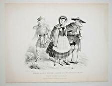 ECOSSE Henry Heath LITHOGRAPHIE Mc Lean Kohler CARICATURE Satire Gravure 1837