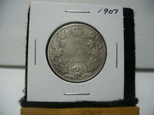 1907  CANADA  SILVER  HALF  DOLLAR  50 CENT PIECE   07  NICE GRADE  CLEANED