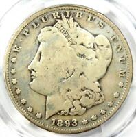 1893-S Morgan Silver Dollar $1 - Certified PCGS Good Details - Rare Key Coin!