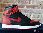 2016 Nike Air Jordan 1 I Retro High OG BANNED Bred Black Red 555088-001 GS Men