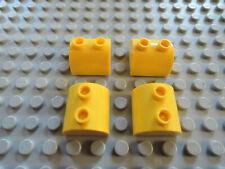 Lego 4 x Stein gewölbt Bogenstein 30165 2x2 gelb 7243 7044 5884