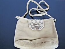Vintage Hedy Peterson Boho Crossbody Suede Leather Purse