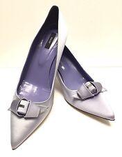 BALLY Women's Evening Pumps Shiny Satin Lilac Heel US 9/EUR 39 1/2/ 10''