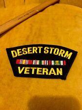 Desert Storm  Veteran Black Gold Uniform Jacket Sleeve Patch Windshield Shaped