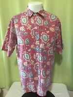 Vintage Reyn Spooner Men's Red Floral Hawaiian Shirt Size Large