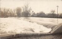 D84/ Three Rivers Michigan Mi Real Photo RPPC Postcard 1906 Homes River Dam