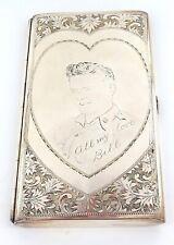 .VINTAGE HEIWA NIPPON LARGE STERLING SILVER CIGARETTE CASE in ORIGINAL BOX.