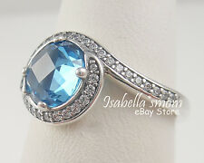 RADIANT EMBELLISHMENT Genuine PANDORA Silver~BLUE CRYSTAL Ring 4.5/48 190968NBS