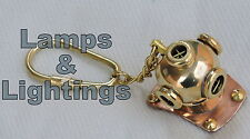 key brass chain ring solid vintage metal tone nautical keyring collectible gift