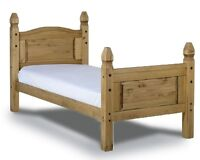 Mercers Furniture® Corona Mexican Pine 3ft Single High Foot End Bed Frame