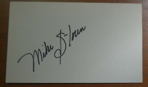 MIKE STOREN dec. 2020 autographed signed 3x5 ABA Commissioner Pacers Colonels +