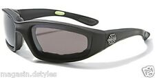 Maltese Cross Goggles for Motorcycle  (1204 Noir) biker custom harley