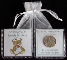 GET WELL SOON LUCKY SIXPENCE WISHING YOU A SPEEDY RECOVERY KEEPSAKE GIFT