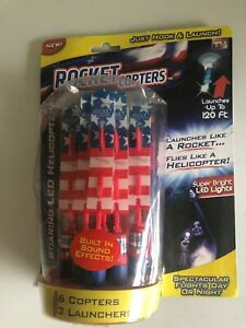 As Seen On Tv Solar Lead  Rocket Copters 6 Copters &3 Launchers
