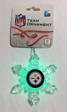 Pittsburgh Steelers Christmas Tree Holiday Ornament New - Light Up Snowflake