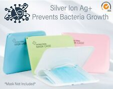 Face Mask Case -Antibacterial Face Mask Holder - Nano Silver Ions Ag+ Technology