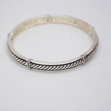Premier designs jewelry polished silver plated stretch bangle pattern bracelet