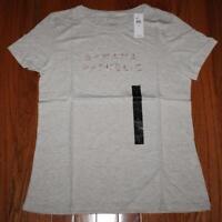 b21d473eeb NEW NWT Womens Banana Republic Logo Graphic Tee Crew Neck T-Shirt Grey  29