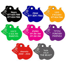 Mouse Shape Pet Id Tags, Dog Tags, Cat Tags (Premium Aluminum)