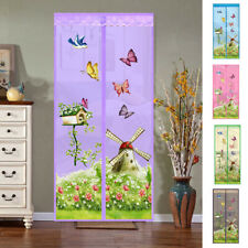 EE_ Butterfly Windmill Summer Magnetic Screen Window Door Anti-Mosquito Fly Curt