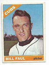 BILL FAUL 1966 Topps Baseball card #322 Chicago Cubs EX