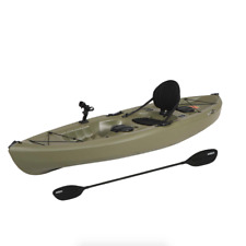 Lifetime 10ft. Tamarack Angler Kayak, Sit On Top Fishing w/ Paddle - Olive Green