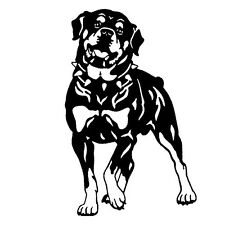 2 Aufkleber Rottweiler Auto Sticker Decal 19 cm Tuning JDM Hund