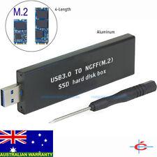 External USB 3.0 Converter Enclosure case Box for M.2 / NGFF B key SSD Aluminium