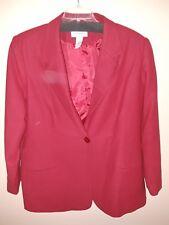 Red wool blazer size 22W NWOT
