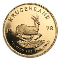 1978 South Africa 1 oz Proof Gold Krugerrand - SKU #91346