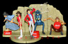 Lupin the Third 3rd figure Part.5 Coca-Cola gashapon (full set of 5 figures)