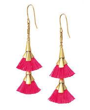 N090 Vibrant Eden Tassel Chandeliers Double Drop Earring SD Vintage Gold Jewelry