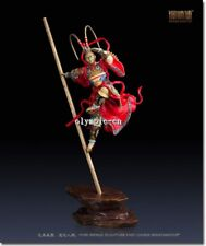 35''Pure Brass handcraft colored drawing Sun Wukong Monkey King statue