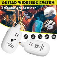 UHF Wireless Gitarre Sender Empfänger Set 50M für E-Bass Violine weiß