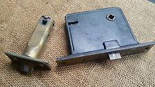 Antique Rim Lock Cast Iron Door Lock & Brass Door Latch