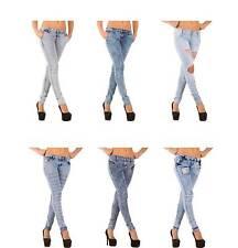 Distressed L32 Damen-Jeans aus Denim mit niedriger Bundhöhe
