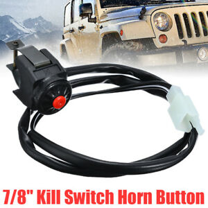 7/8'' Kill Switch Horn Button Stop Handlebar For Motorcycle Motorbike Qua
