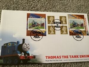 RAILWAY FIRST DAY COVER FDC TRAIN COVER SPECIAL POSTMARK THOMAS THE TANK ENGINE