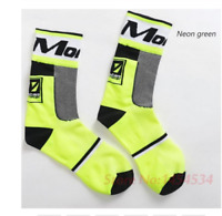 Authentic NEON YELLOW Montron cycling socks