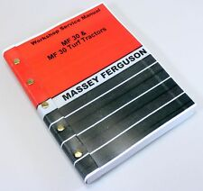 MASSEY FERGUSON MF 30 30T TRACTOR BACKHOE LOADER SERVICE REPAIR WORKSHOP MANUAL