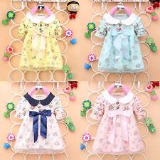 Vestitino cotone bimba baby dress floral
