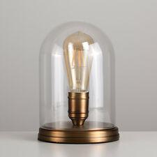 Modern Steam Punk Industrial Style Edison Table Lamp Aged Brass  Glass Light