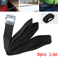 6PACK 2.5M AUTO CAR CARGO LOAD LASHING STRAPS TRAVEL LUGGAGE CAM BUCKLE TIE DOWN