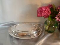 Lovely Antique Silver Plated Lidded Dish-Hand Engraved Foliate Design